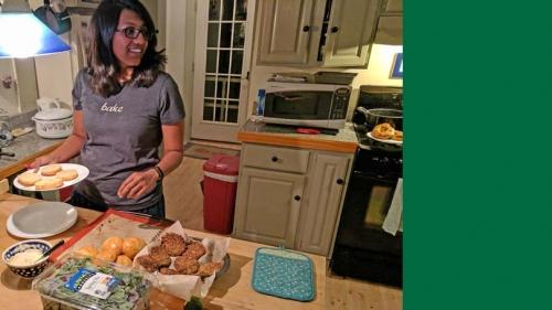 PPriyanka-MALS-17-Alumna- in her kitchen