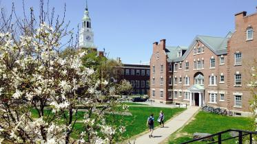 Dartmouth campus in Spring