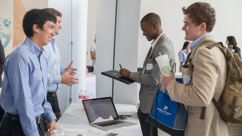 Students at the Employer Connections Fair