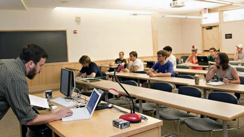 Graduate student Joshua E. Brody teaches CompSci 37